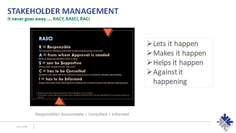 Stakeholder Management - RASCI