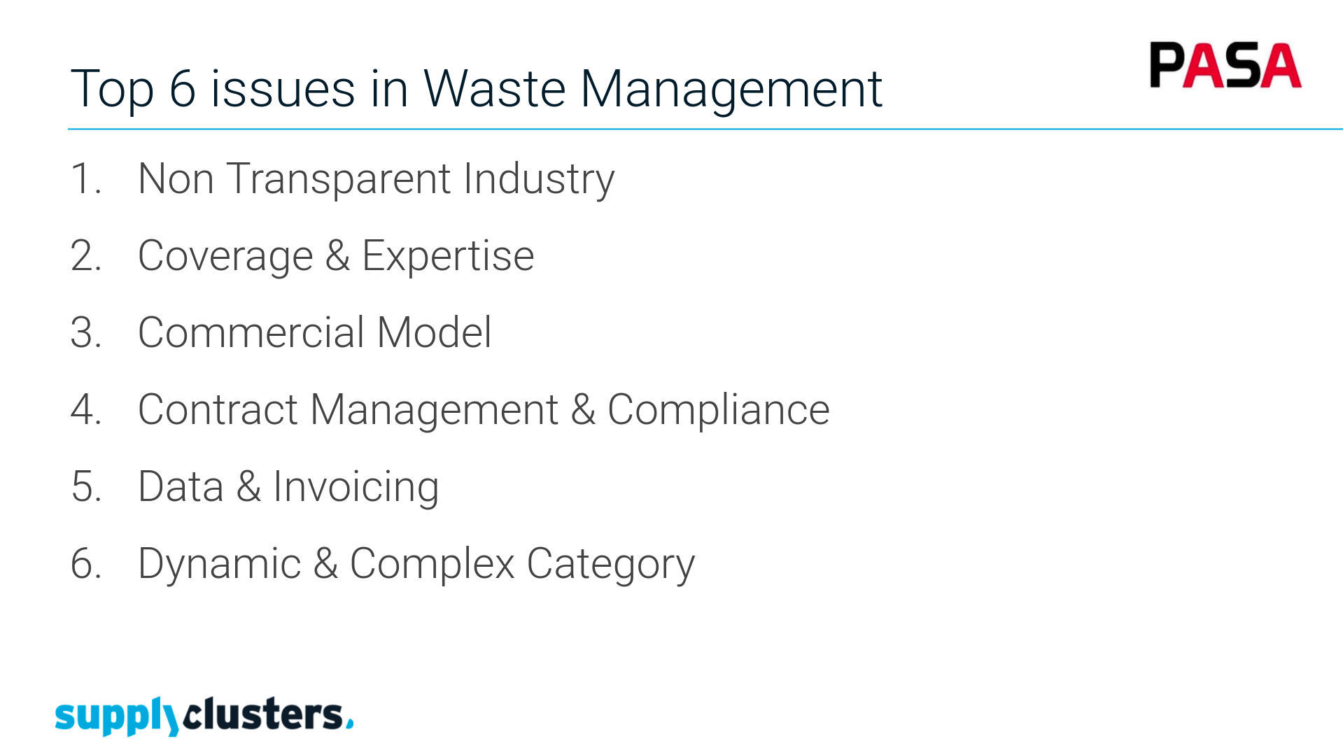 PASA Connect Top Issues in Waste Management
