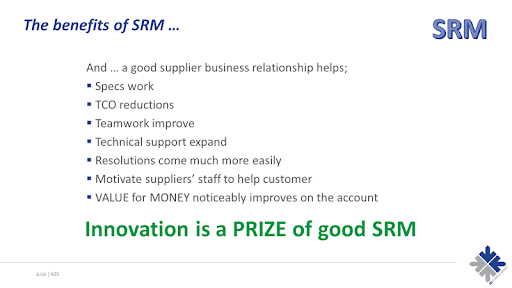 Benefits of SRM
